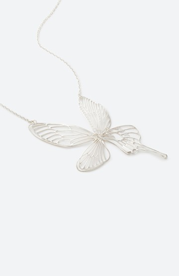 haco! てとひとて MARZO DERICATE AIR 昆虫の羽シルバーネックレス <シルバー>の商品写真