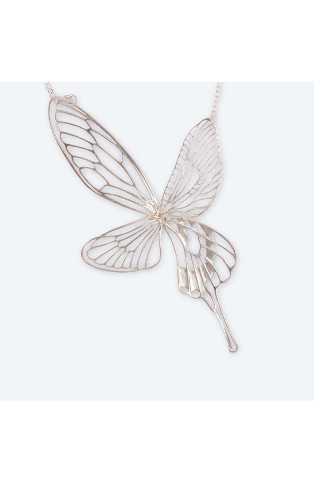 haco! てとひとて MARZO DERICATE AIR 昆虫の羽シルバーネックレス <シルバー>の商品写真4
