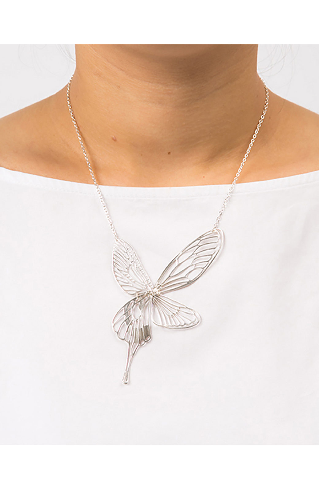 haco! てとひとて MARZO DERICATE AIR 昆虫の羽シルバーネックレス <シルバー>の商品写真6