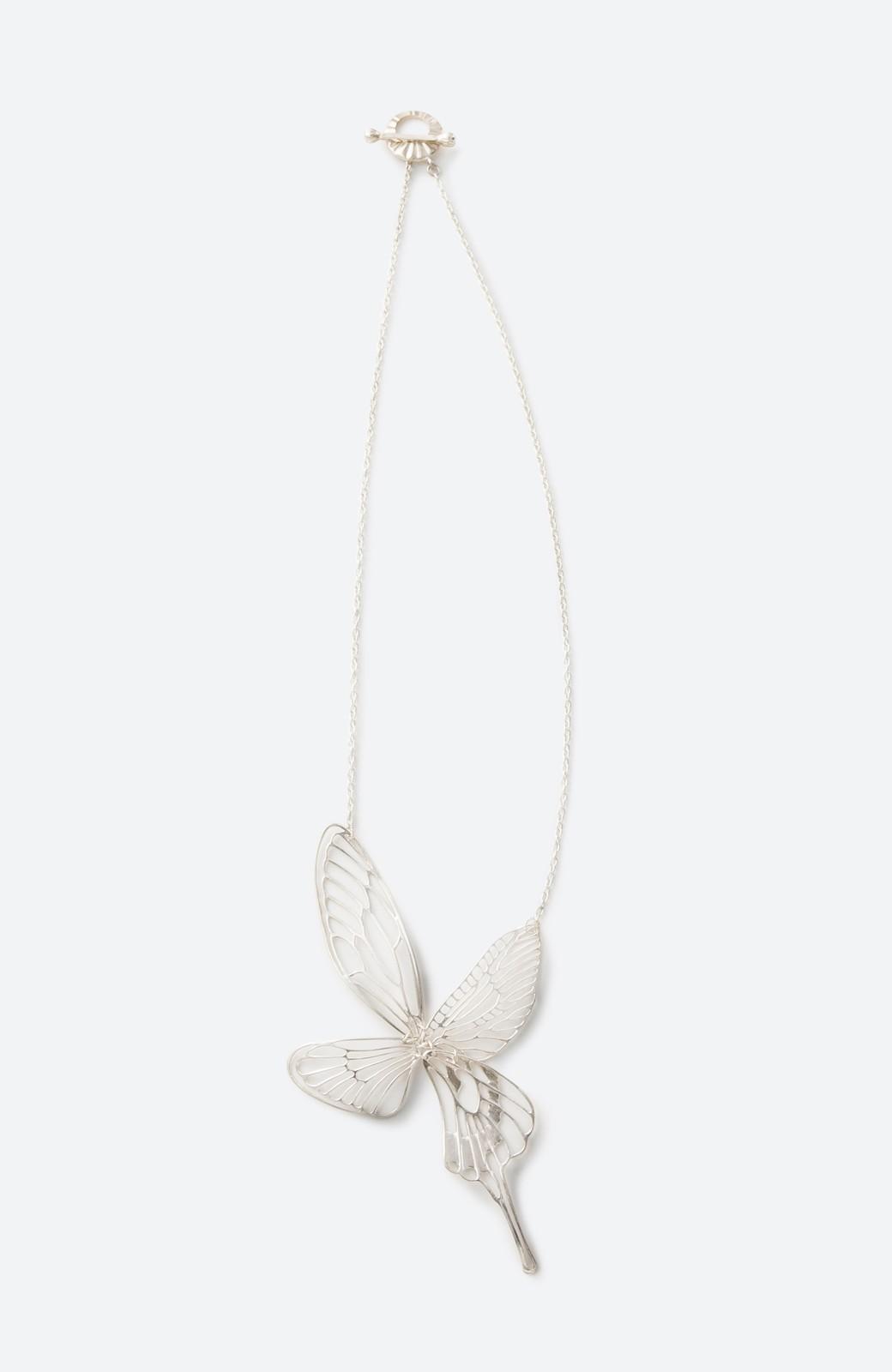 haco! てとひとて MARZO DERICATE AIR 昆虫の羽シルバーネックレス <シルバー>の商品写真2