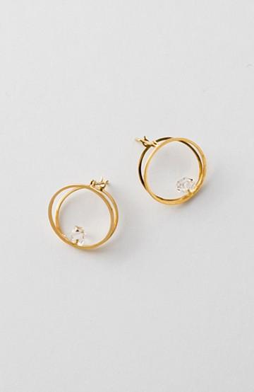 haco! てとひとて januka ゴールド3Dピアス(ハーキマーダイヤモンド)S <ゴールド>の商品写真