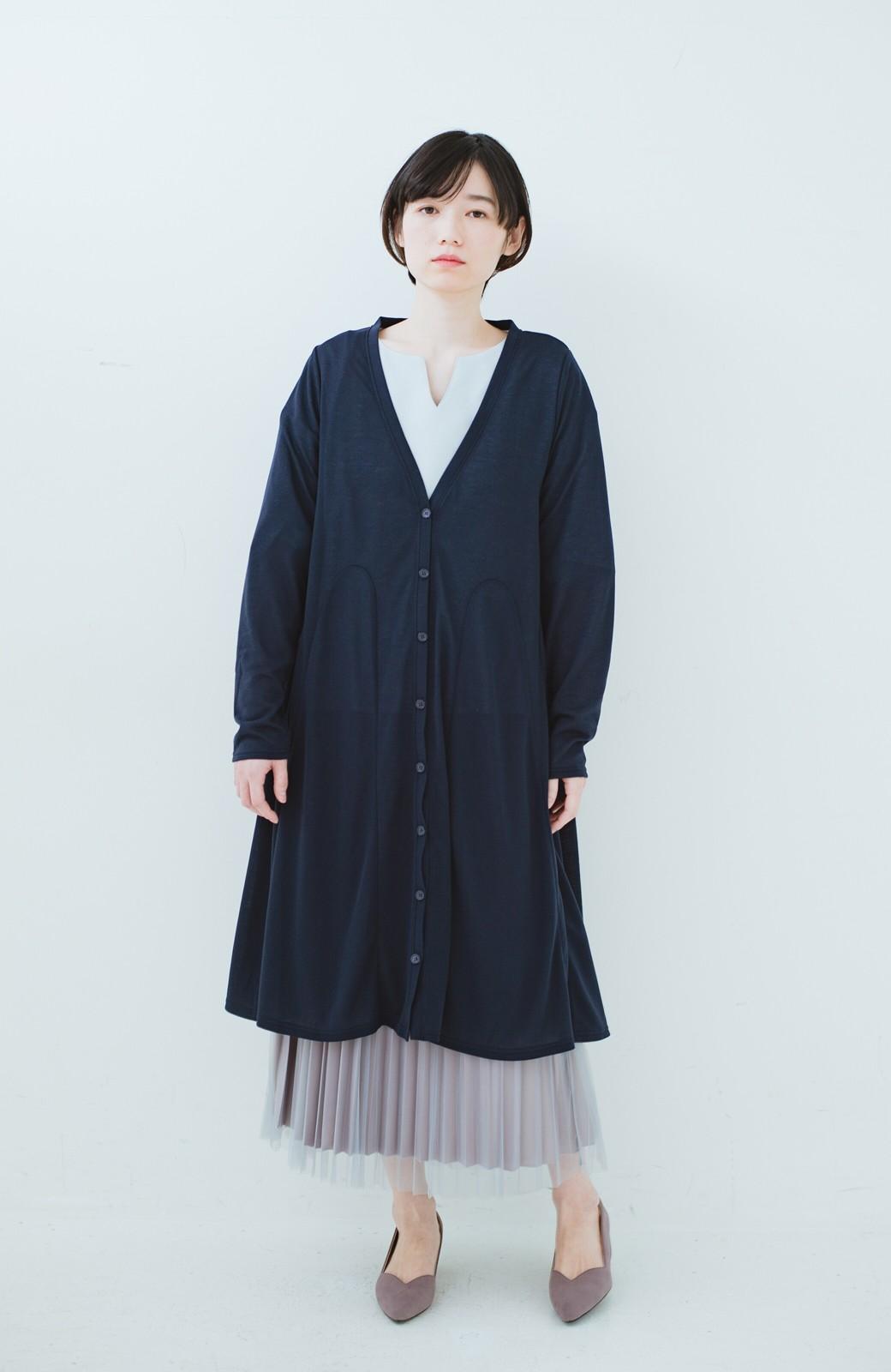haco! どんな日も華やか気分にしてくれる 二枚仕立てのチュールプリーツスカート <ライトグレー>の商品写真17