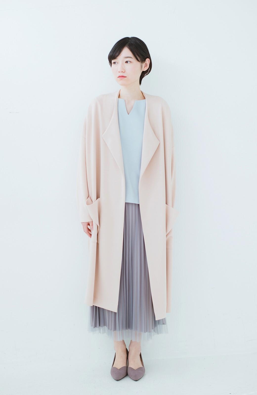haco! どんな日も華やか気分にしてくれる 二枚仕立てのチュールプリーツスカート <ライトグレー>の商品写真18