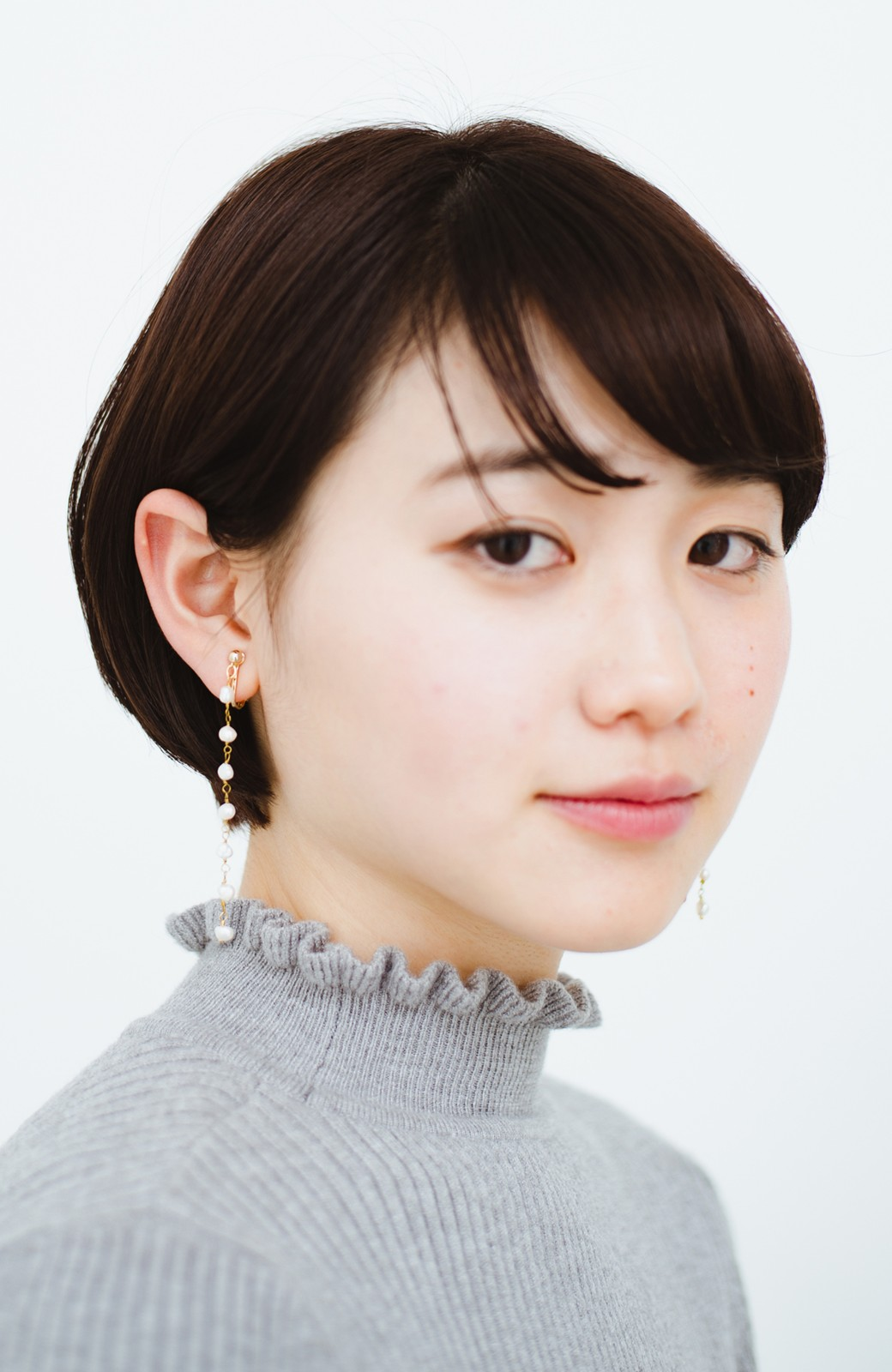 haco! 顔まわりが華やぐ 淡水パールピアス&イヤリング by que made me <ホワイト>の商品写真10