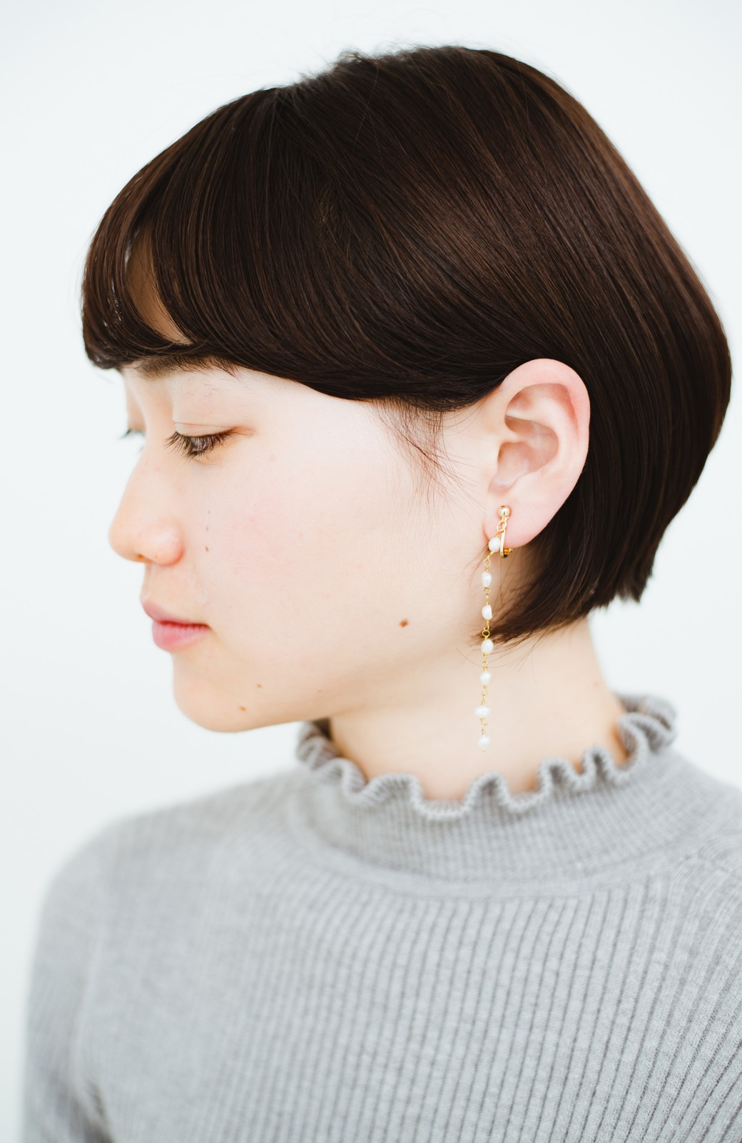 haco! 顔まわりが華やぐ 淡水パールピアス&イヤリング by que made me <ホワイト>の商品写真11