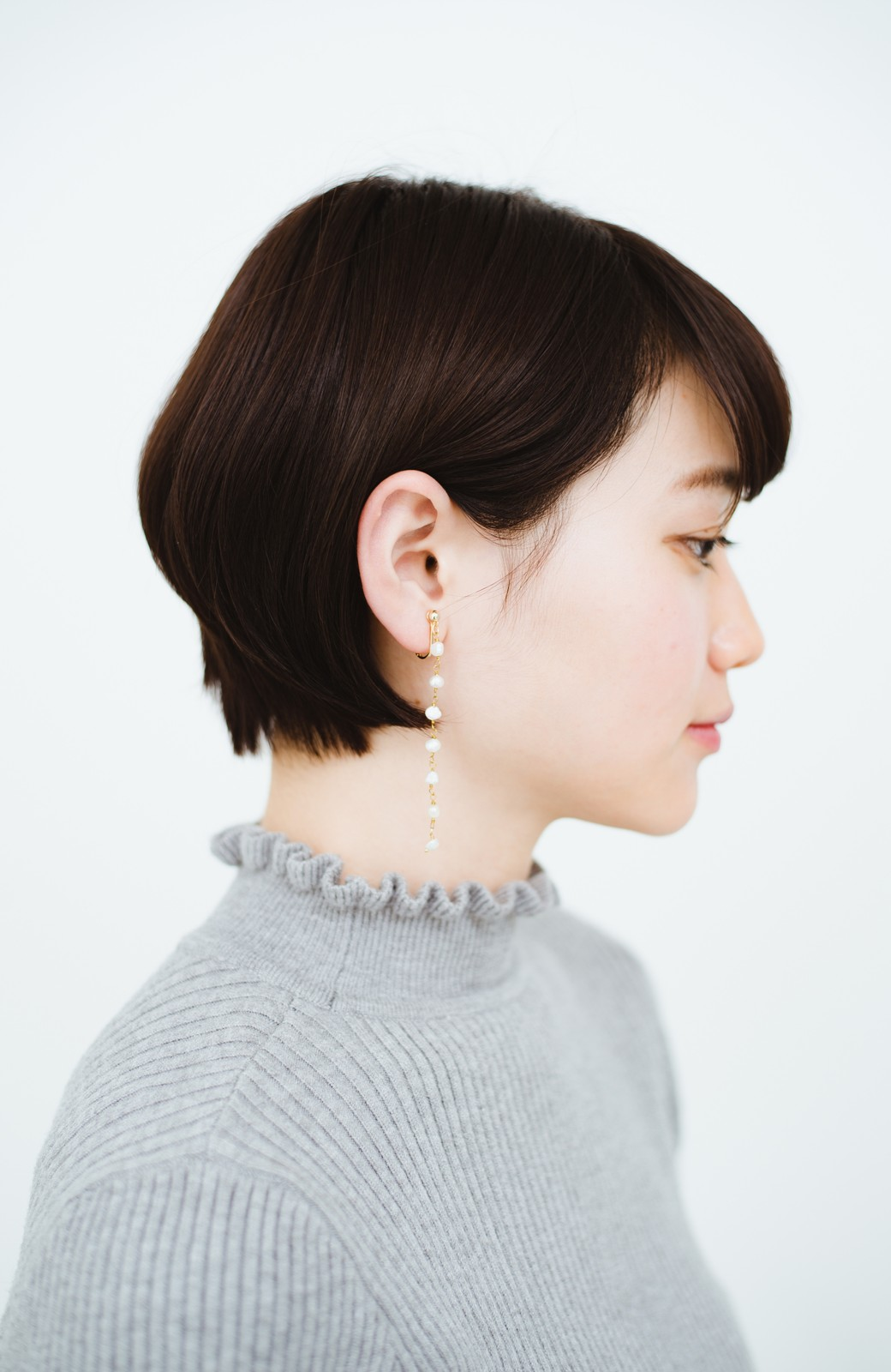 haco! 顔まわりが華やぐ 淡水パールピアス&イヤリング by que made me <ホワイト>の商品写真12