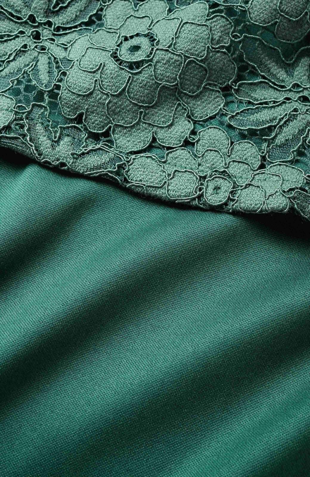 haco! ルンとした気分になる 華やかレースブラウス&タンクトップセット <グリーン>の商品写真4