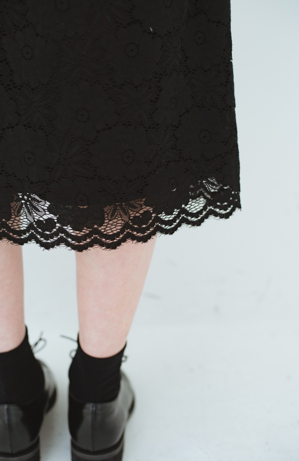 haco! ルンとした気分になる 華やかレーススカート <ブラック>の商品写真9