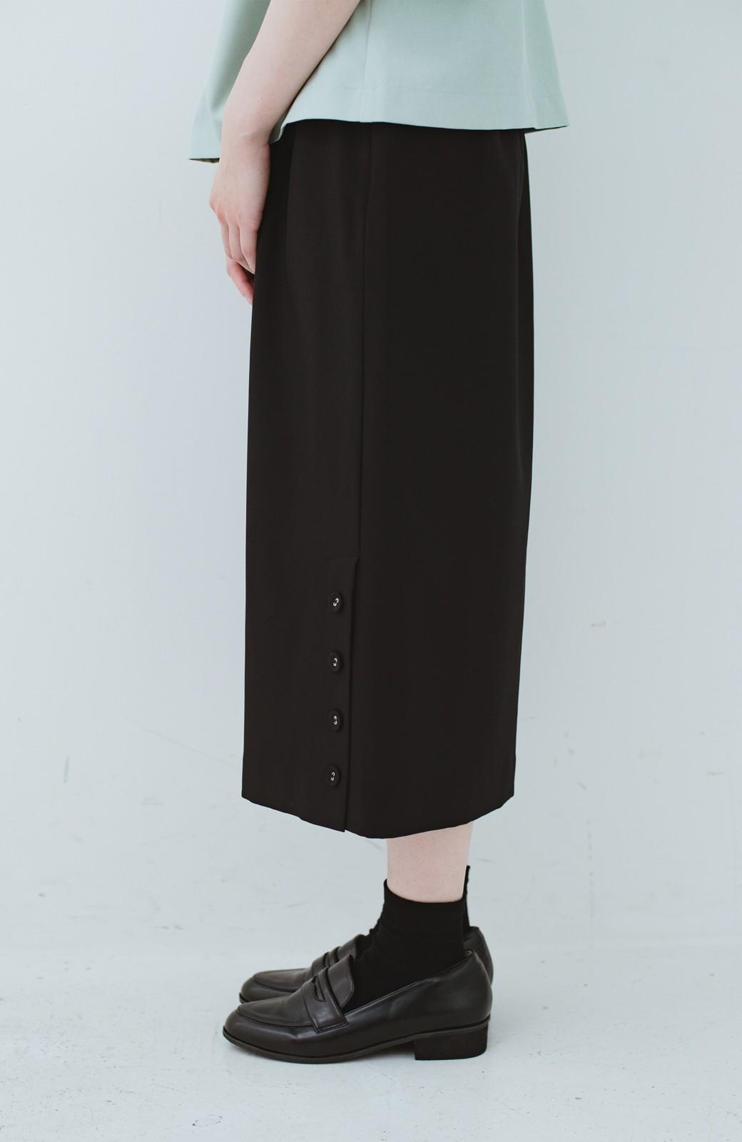 haco! 持っていると便利な 野暮ったくならないタイトスカート <ブラック>の商品写真4