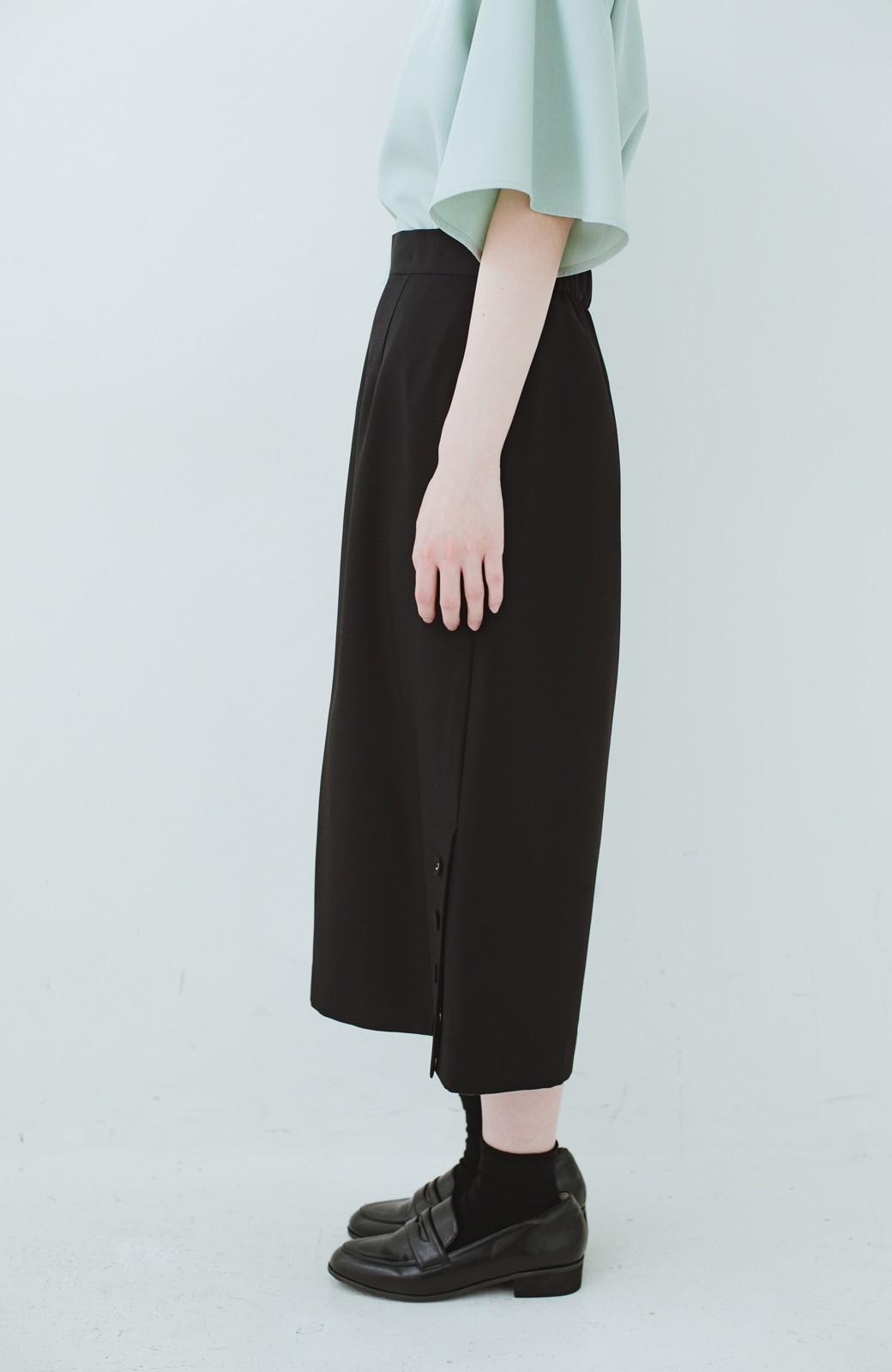 haco! 持っていると便利な 野暮ったくならないタイトスカート <ブラック>の商品写真5