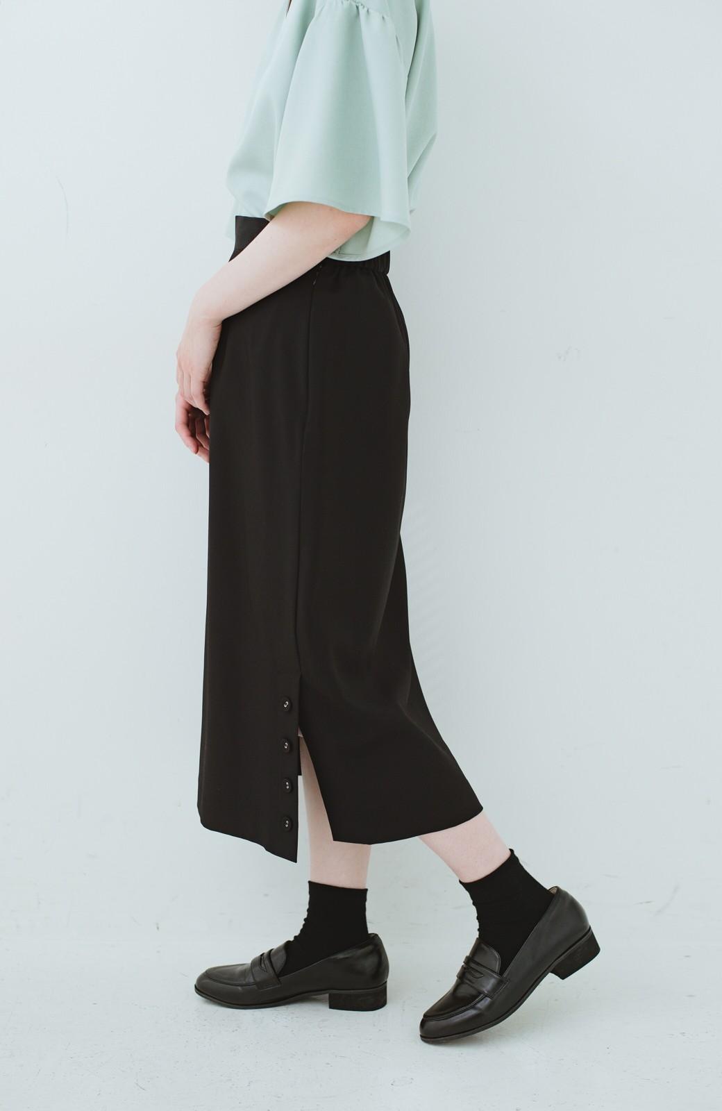 haco! 持っていると便利な 野暮ったくならないタイトスカート <ブラック>の商品写真6