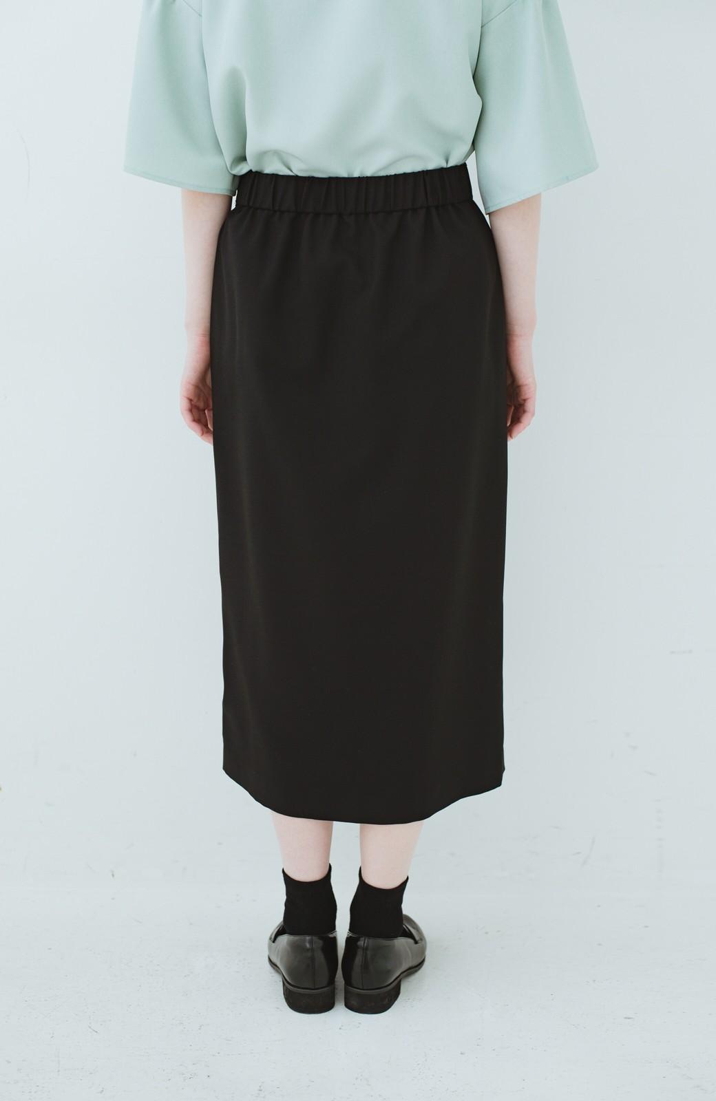 haco! 持っていると便利な 野暮ったくならないタイトスカート <ブラック>の商品写真7