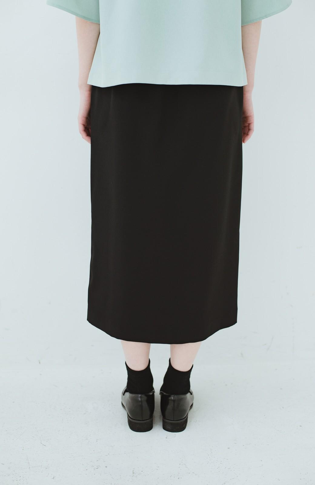 haco! 持っていると便利な 野暮ったくならないタイトスカート <ブラック>の商品写真8
