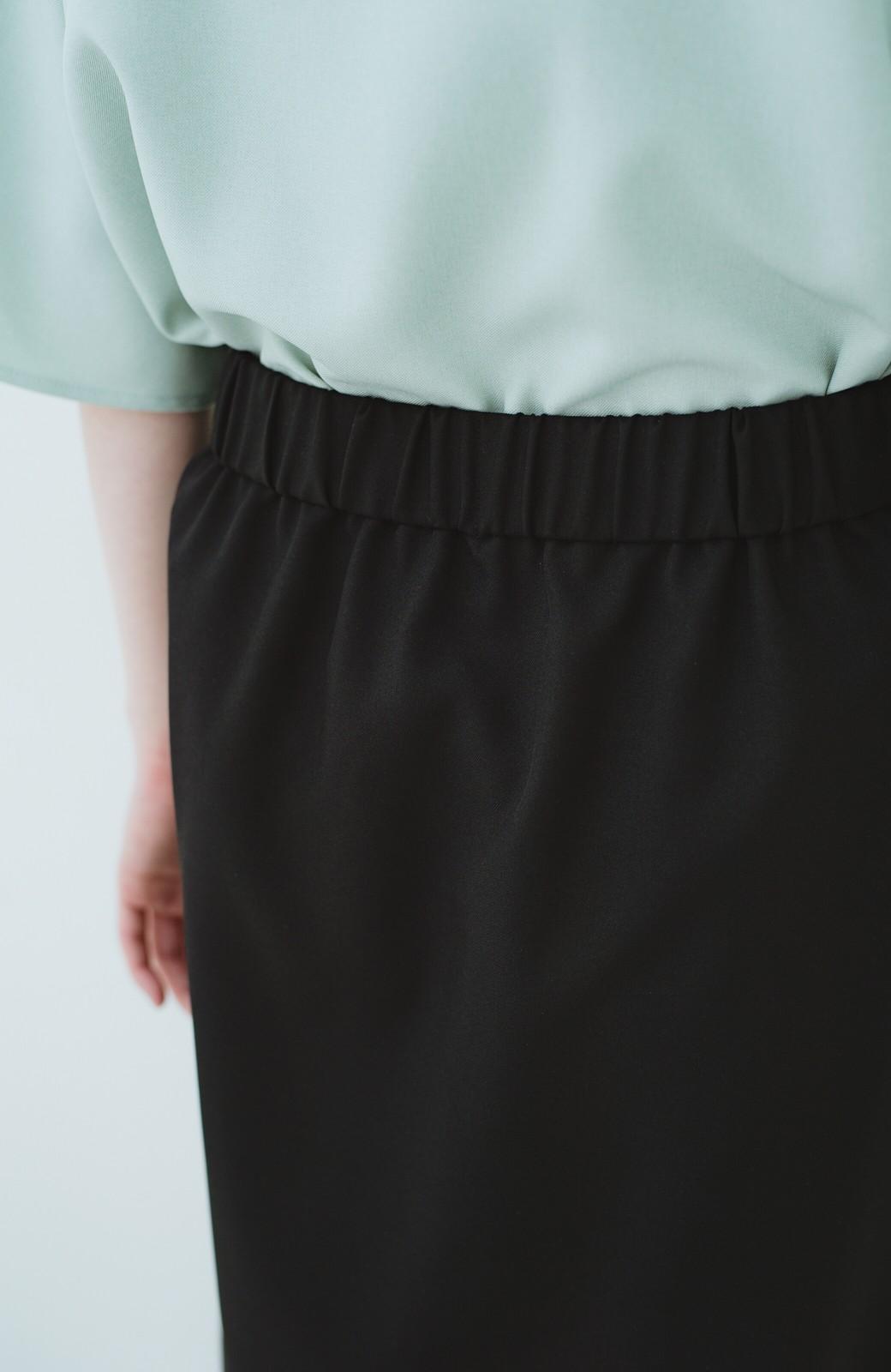 haco! 持っていると便利な 野暮ったくならないタイトスカート <ブラック>の商品写真9
