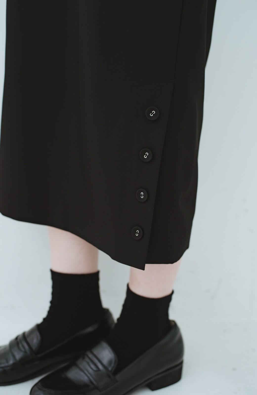 haco! 持っていると便利な 野暮ったくならないタイトスカート <ブラック>の商品写真10