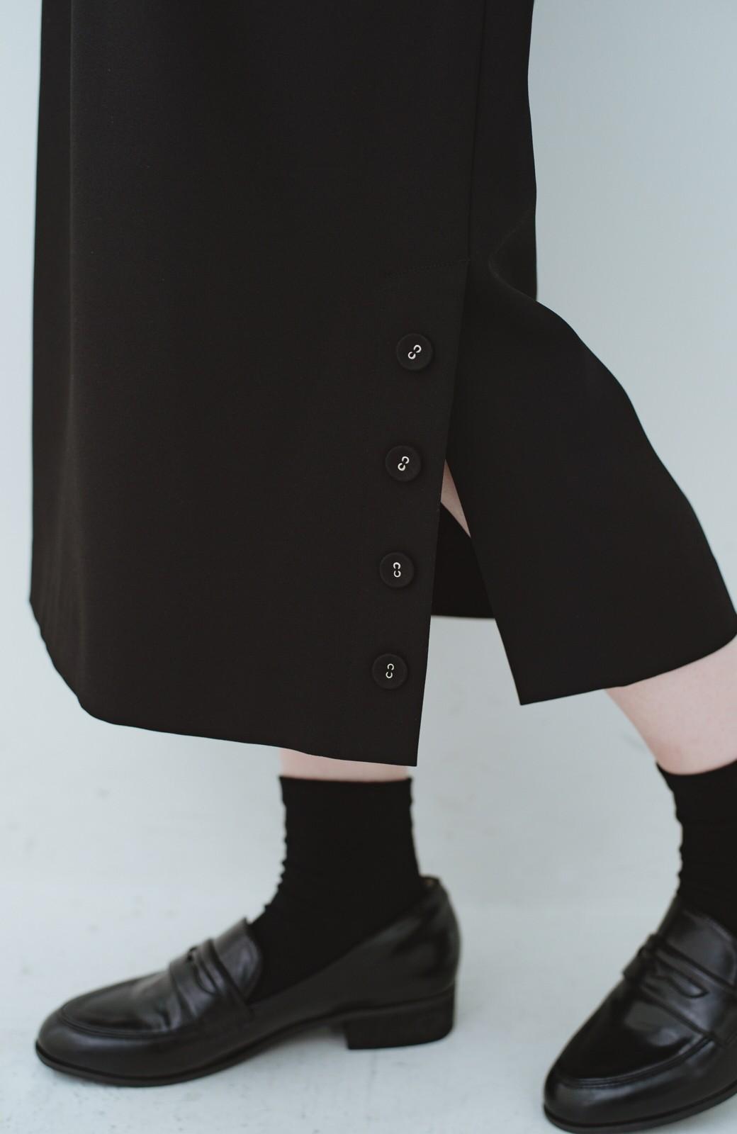 haco! 持っていると便利な 野暮ったくならないタイトスカート <ブラック>の商品写真11
