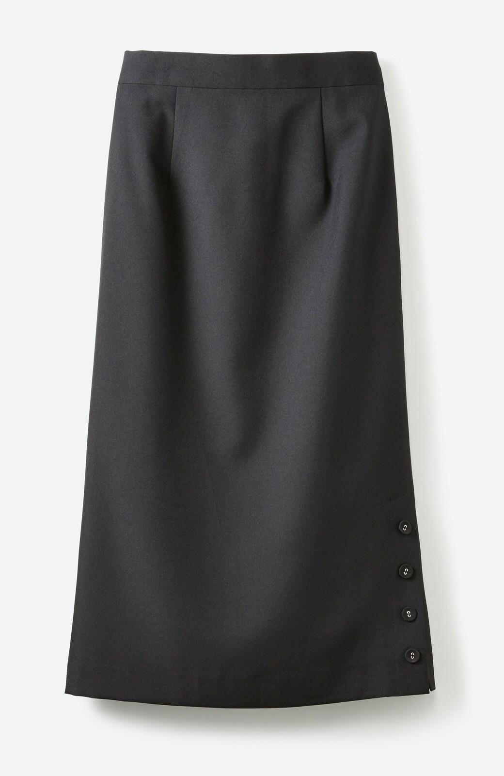 haco! 持っていると便利な 野暮ったくならないタイトスカート <ブラック>の商品写真1