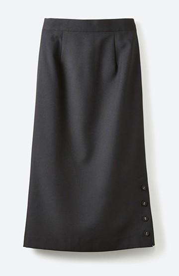 haco! 持っていると便利な 野暮ったくならないタイトスカート <ブラック>の商品写真
