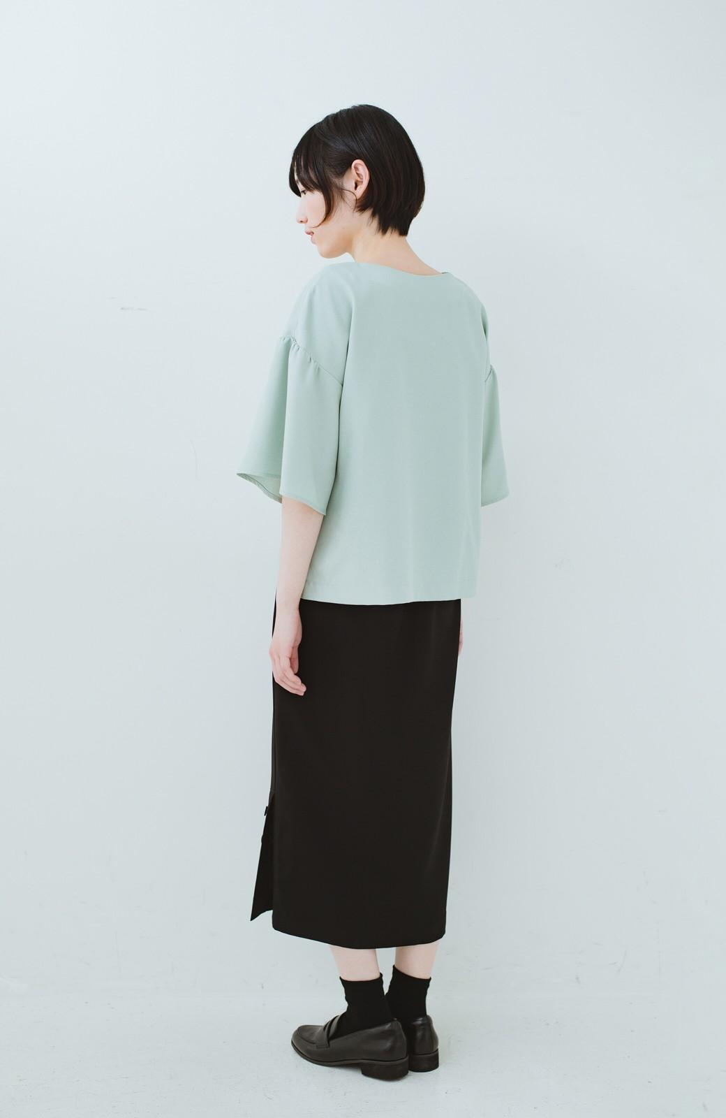 haco! 持っていると便利な 野暮ったくならないタイトスカート <ブラック>の商品写真19