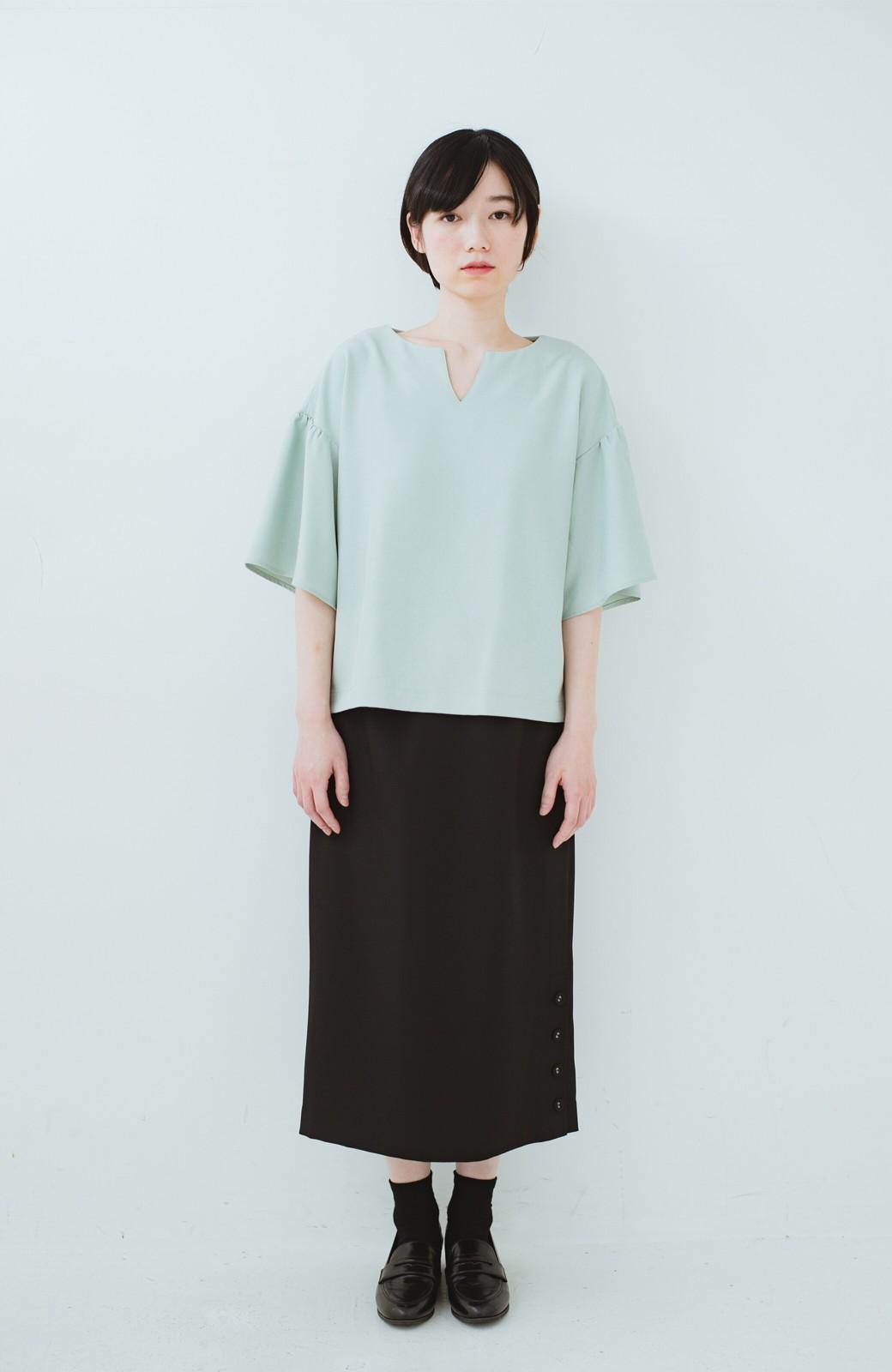 haco! 持っていると便利な 野暮ったくならないタイトスカート <ブラック>の商品写真13