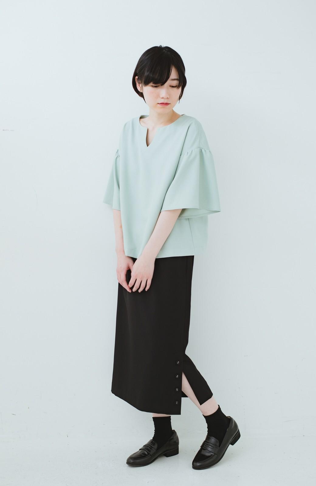 haco! 持っていると便利な 野暮ったくならないタイトスカート <ブラック>の商品写真14