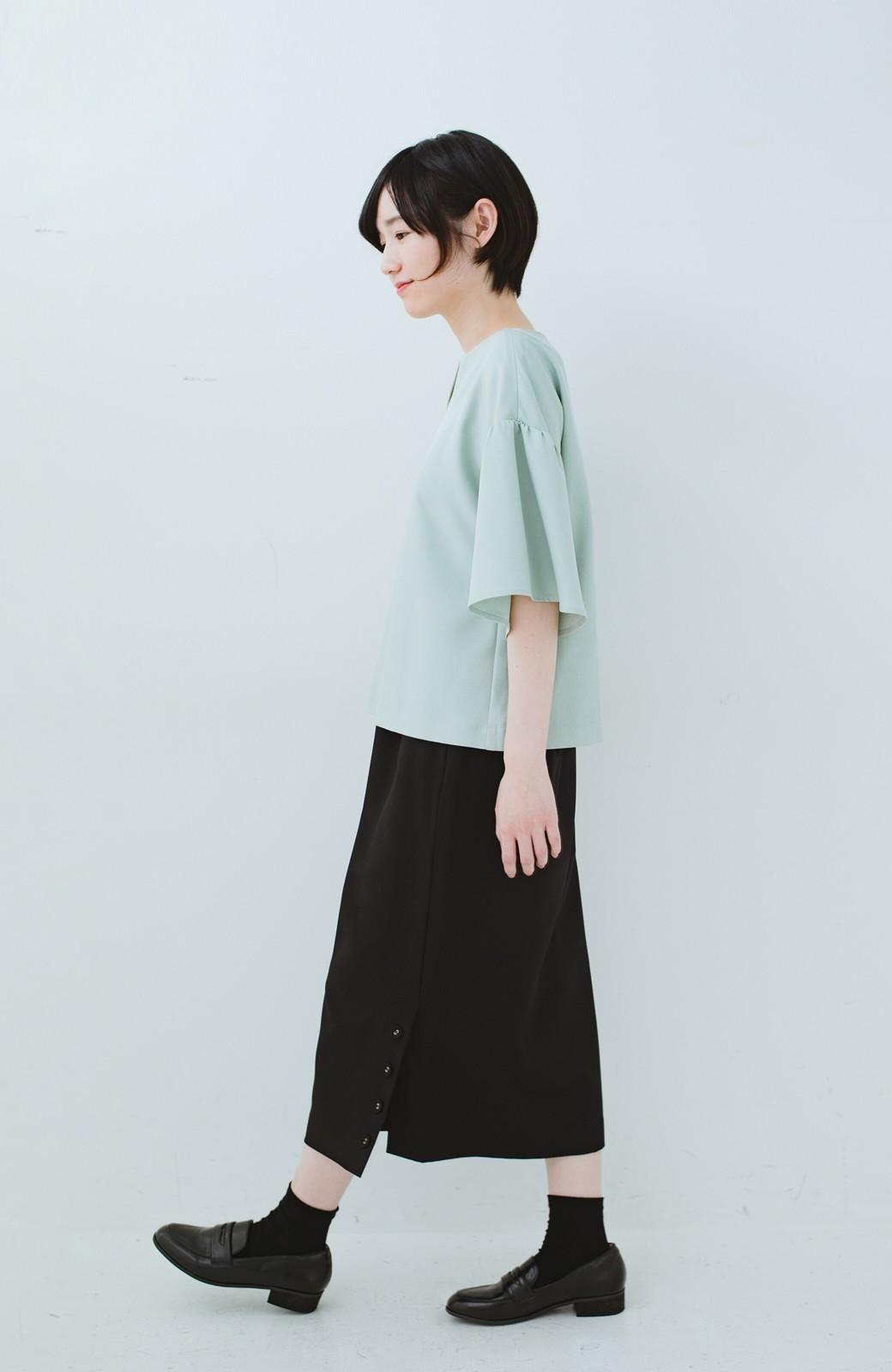 haco! 持っていると便利な 野暮ったくならないタイトスカート <ブラック>の商品写真16
