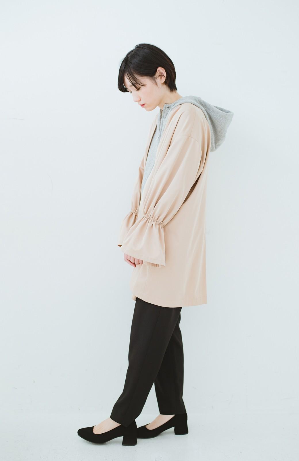 haco! ただ羽織るだけでオシャレに見える 気軽なフレアースリーブコート <ベージュ>の商品写真7