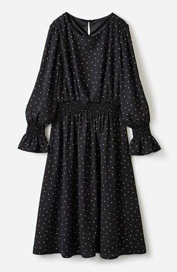 haco! 女の子に生まれたからにはこんな服着てでかけたい!大人かわいいドットワンピース <ブラック系その他>の商品写真