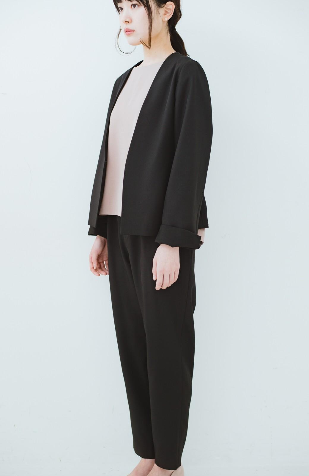 haco! 持っていると便利な野暮ったくならないフォーマルジャケット・パンツ・スカートの3点セット <ブラック>の商品写真15