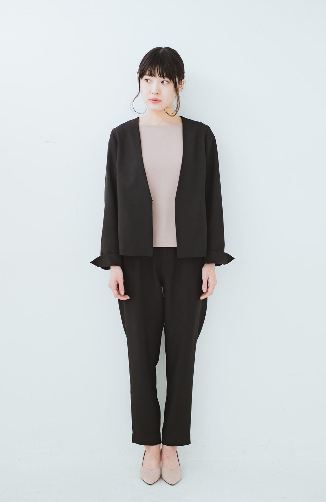 haco! 持っていると便利な野暮ったくならないフォーマルジャケット・パンツ・スカートの3点セット <ブラック>の商品写真10