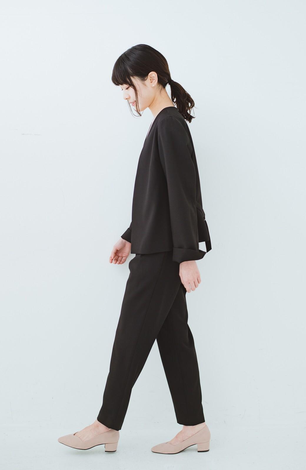 haco! 持っていると便利な野暮ったくならないフォーマルジャケット・パンツ・スカートの3点セット <ブラック>の商品写真13