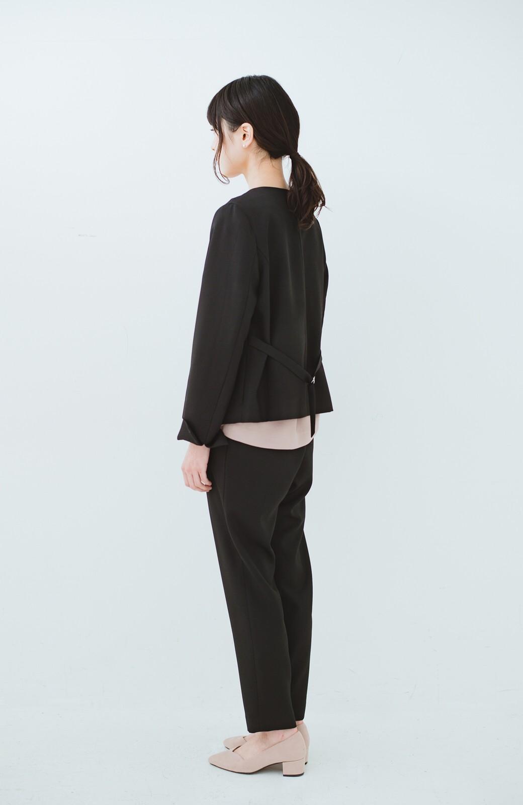 haco! 持っていると便利な野暮ったくならないフォーマルジャケット・パンツの2点セット <ブラック>の商品写真8