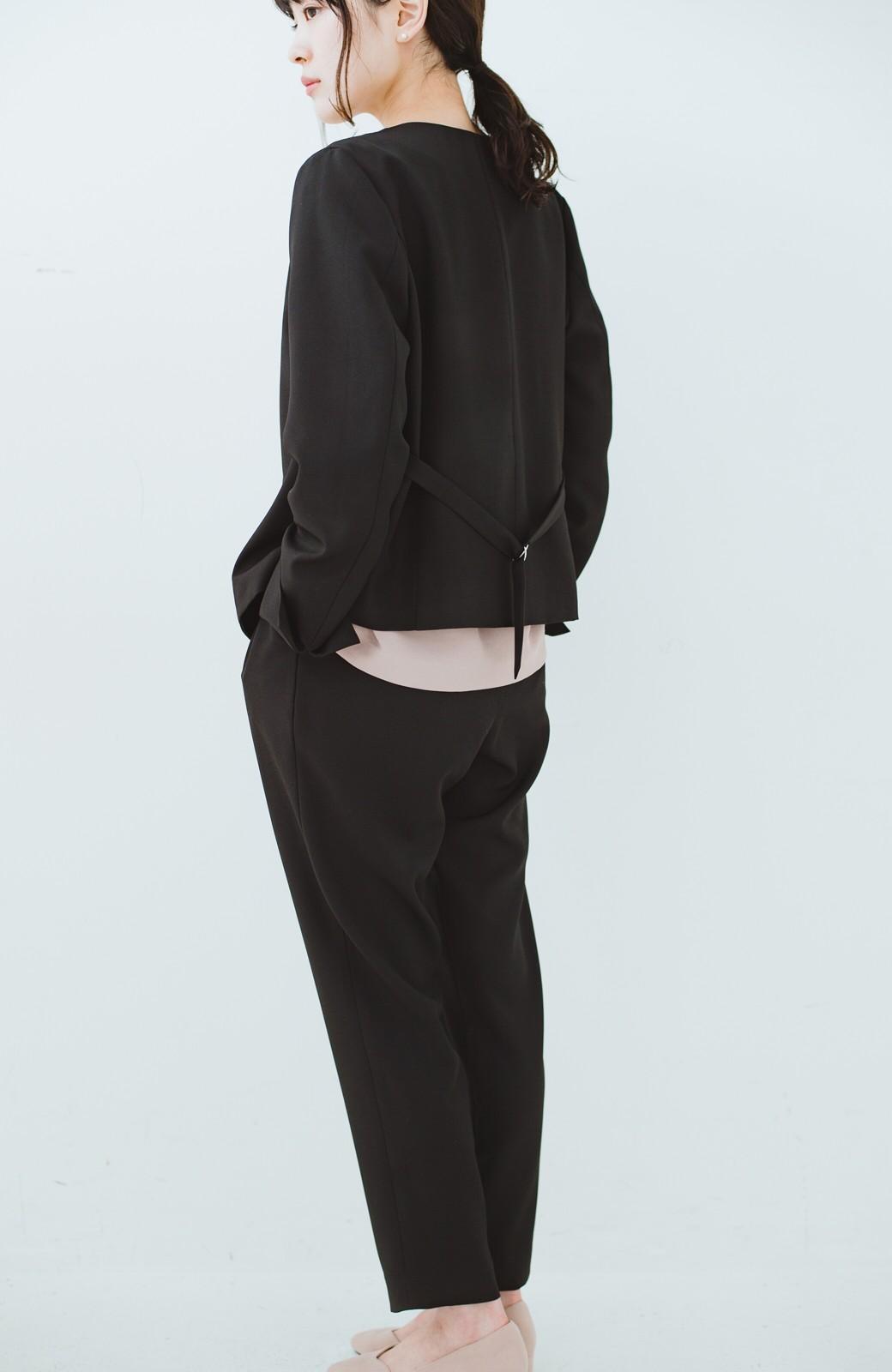 haco! 持っていると便利な野暮ったくならないフォーマルジャケット・パンツの2点セット <ブラック>の商品写真10