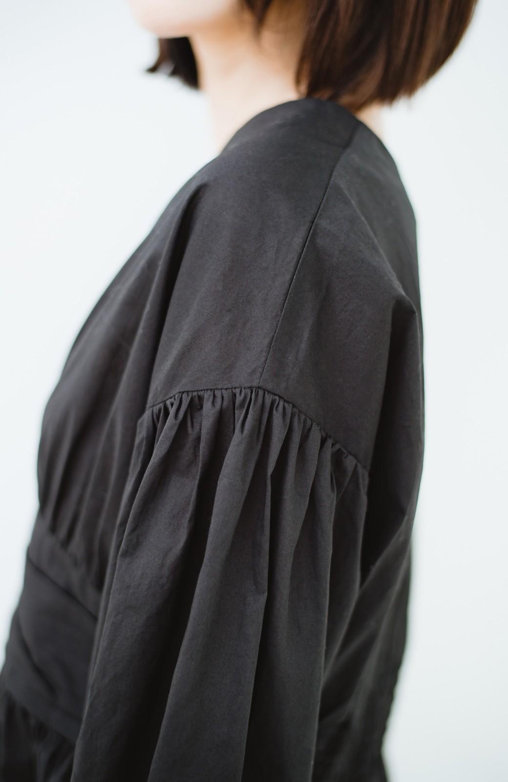 haco! 可愛いより大人っぽいと言われたい日のウエストシャーリングブラウス <ブラック>の商品写真4