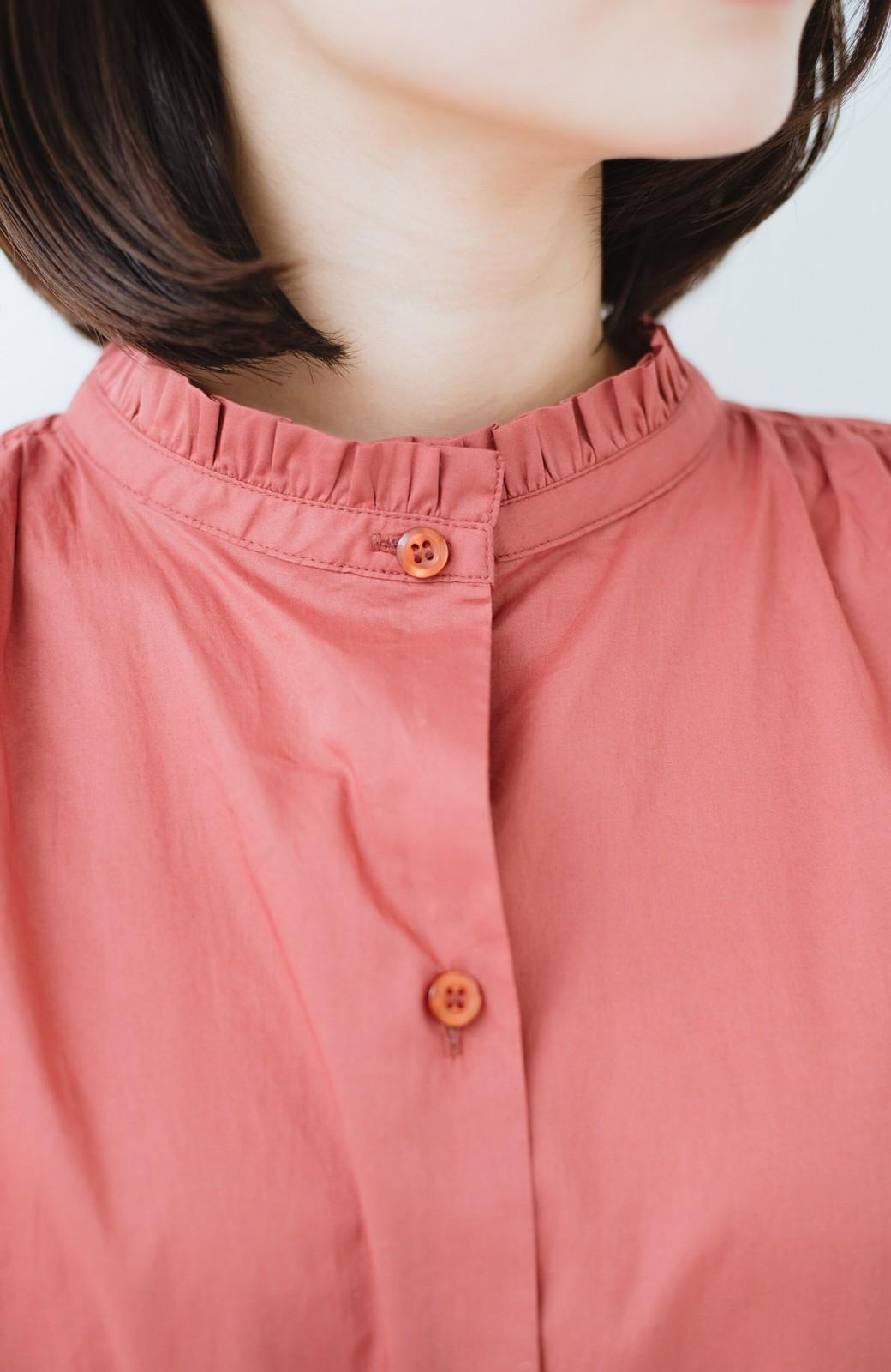 haco! 羽織りにもなって着回しのきくサッシュベルト付きシャツワンピース <ピンク>の商品写真3