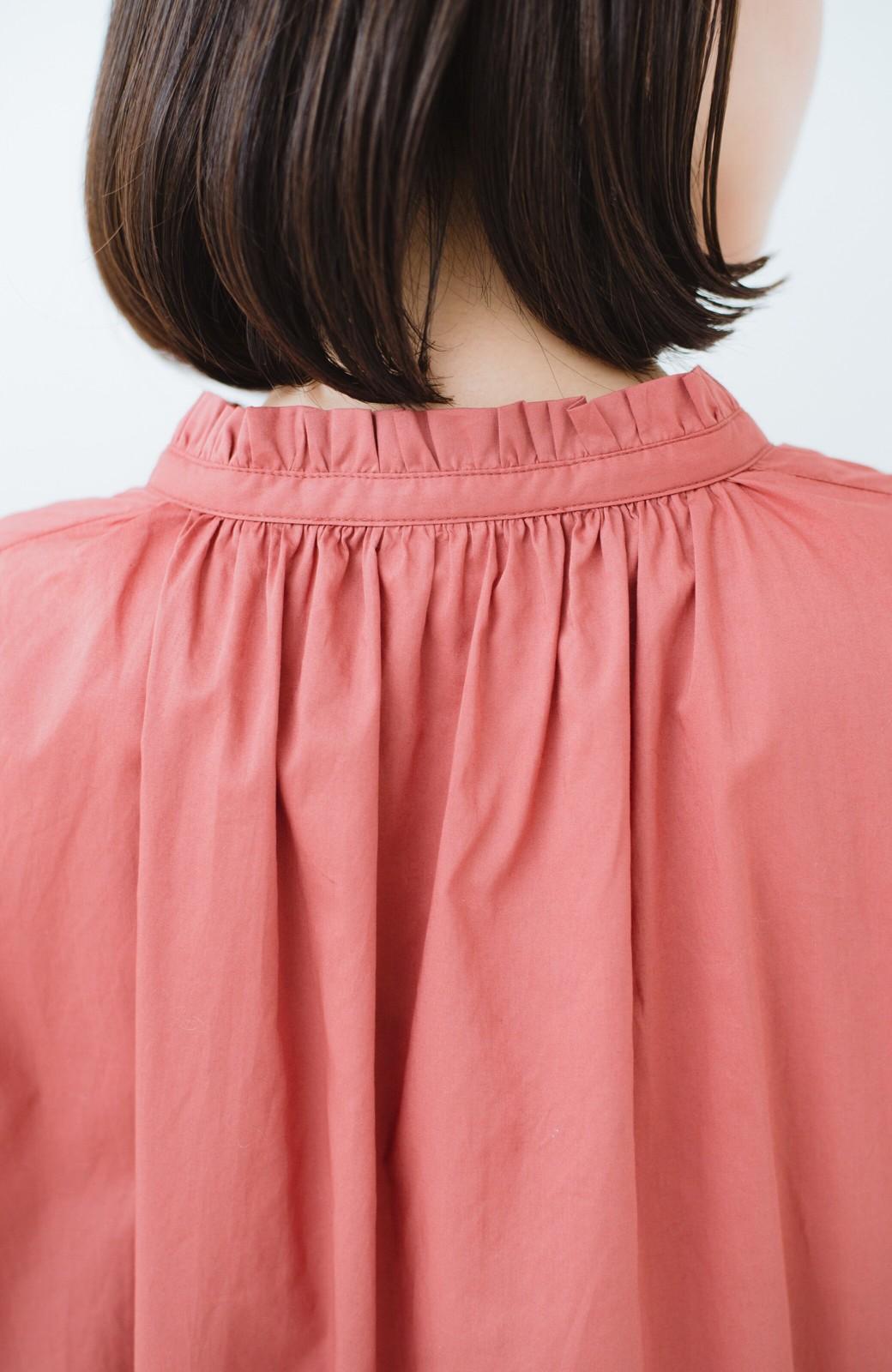 haco! 羽織りにもなって着回しのきくサッシュベルト付きシャツワンピース <ピンク>の商品写真4