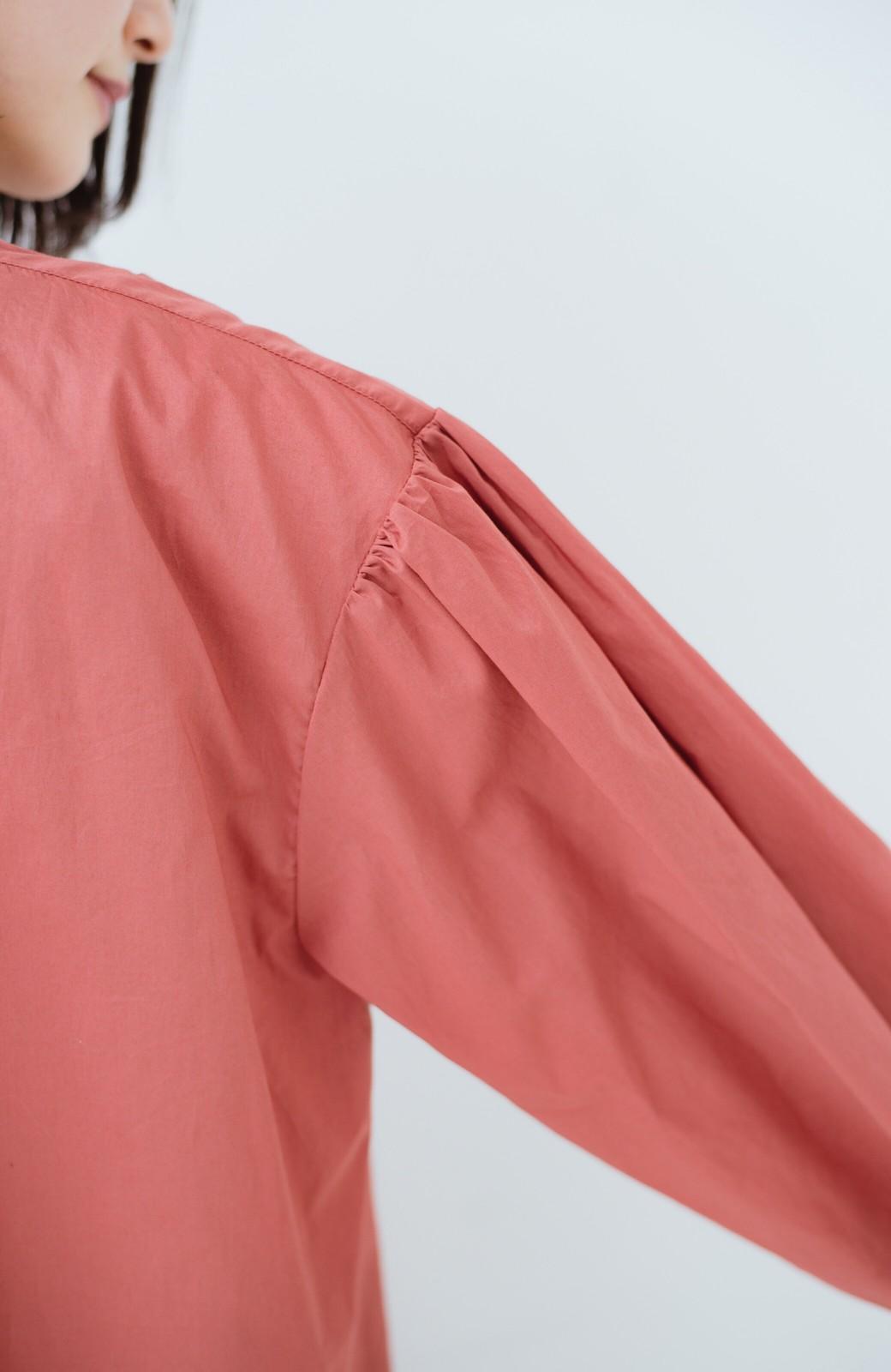 haco! 羽織りにもなって着回しのきくサッシュベルト付きシャツワンピース <ピンク>の商品写真5