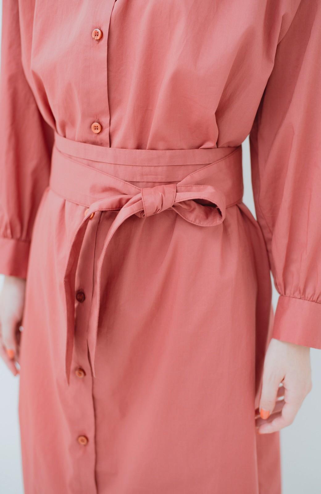 haco! 羽織りにもなって着回しのきくサッシュベルト付きシャツワンピース <ピンク>の商品写真8