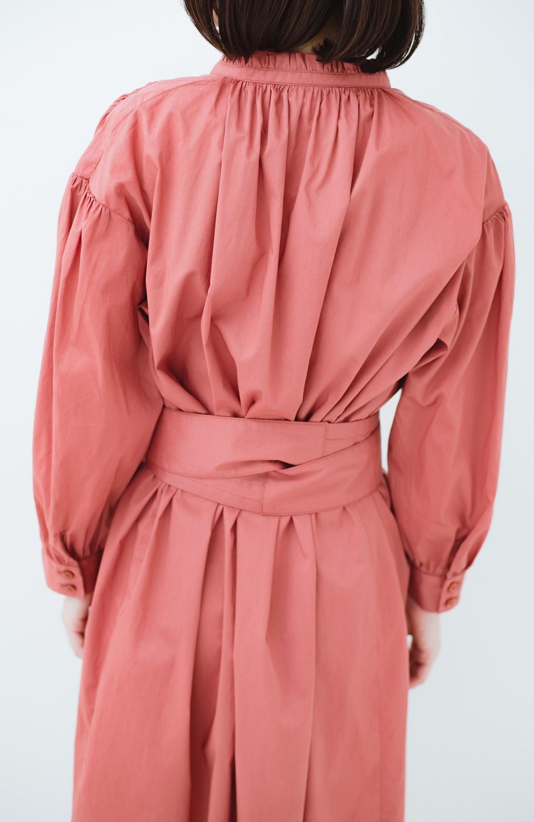 haco! 羽織りにもなって着回しのきくサッシュベルト付きシャツワンピース <ピンク>の商品写真12