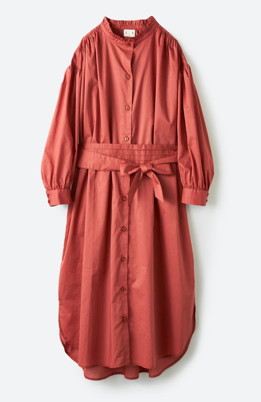 haco! 羽織りにもなって着回しのきくサッシュベルト付きシャツワンピース <ピンク>の商品写真1