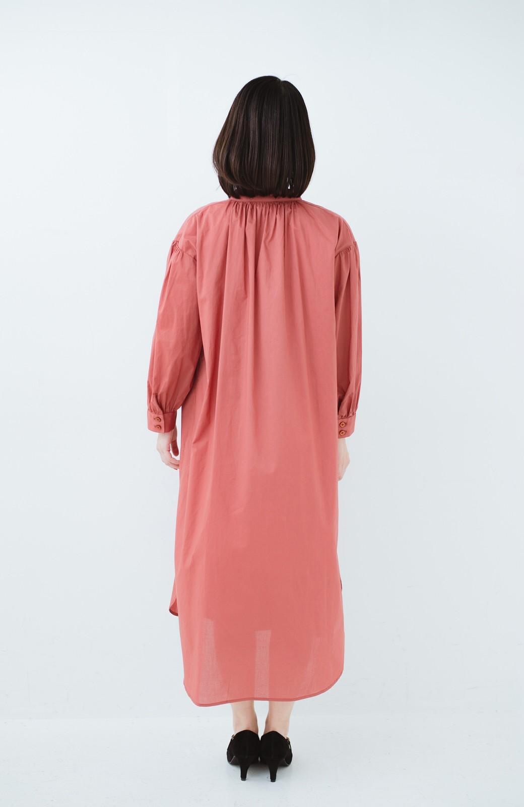 haco! 羽織りにもなって着回しのきくサッシュベルト付きシャツワンピース <ピンク>の商品写真17