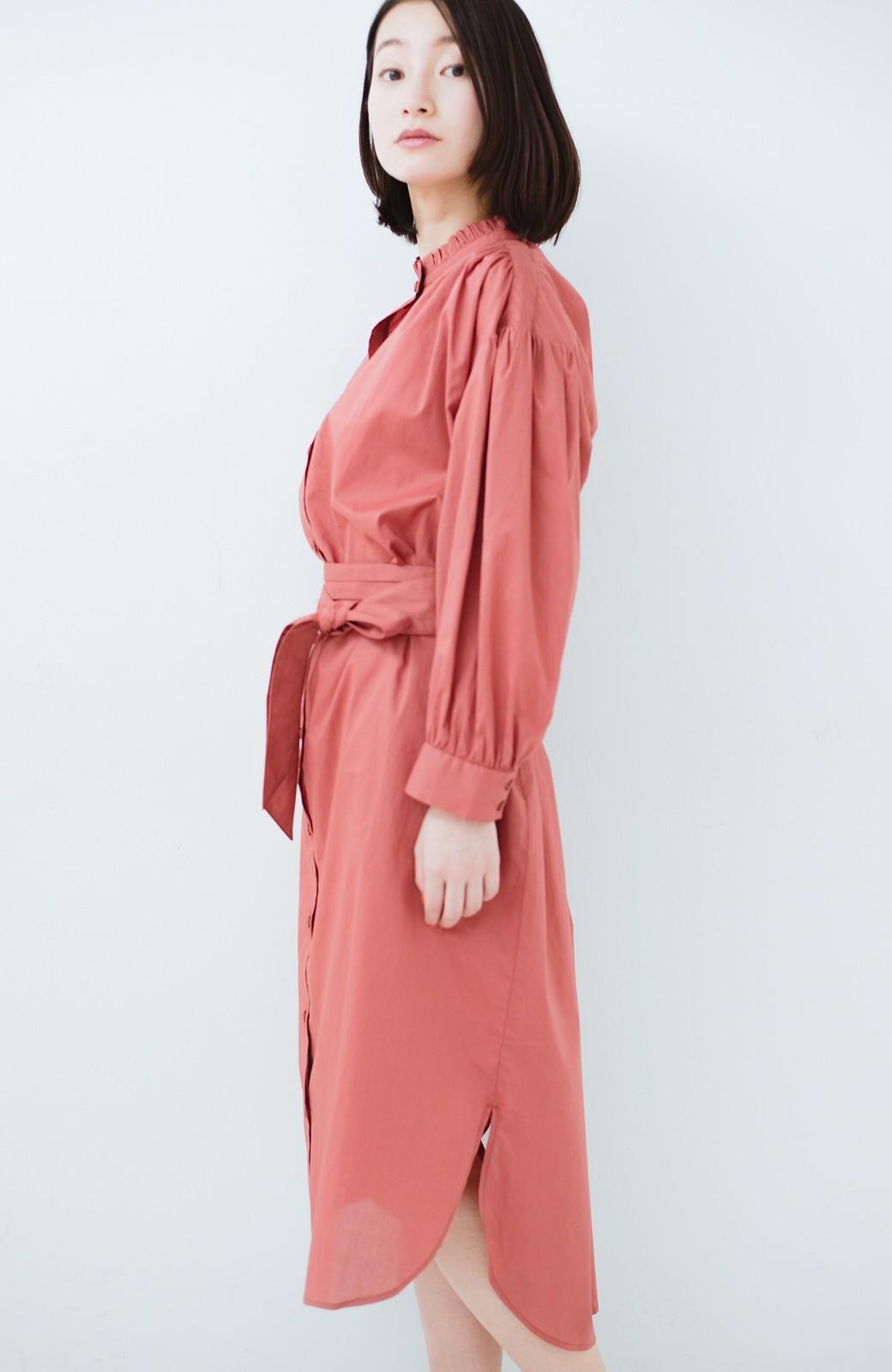 haco! 羽織りにもなって着回しのきくサッシュベルト付きシャツワンピース <ピンク>の商品写真25