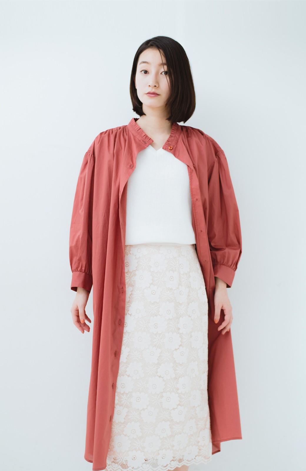 haco! 羽織りにもなって着回しのきくサッシュベルト付きシャツワンピース <ピンク>の商品写真26