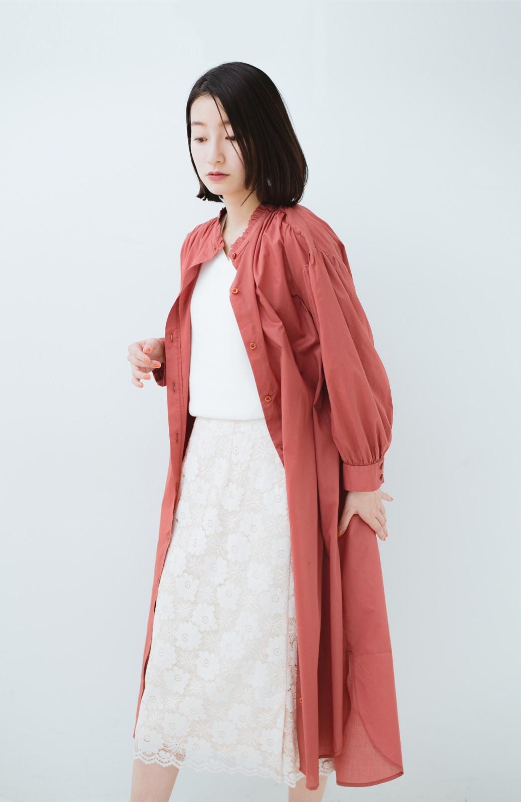 haco! 羽織りにもなって着回しのきくサッシュベルト付きシャツワンピース <ピンク>の商品写真27