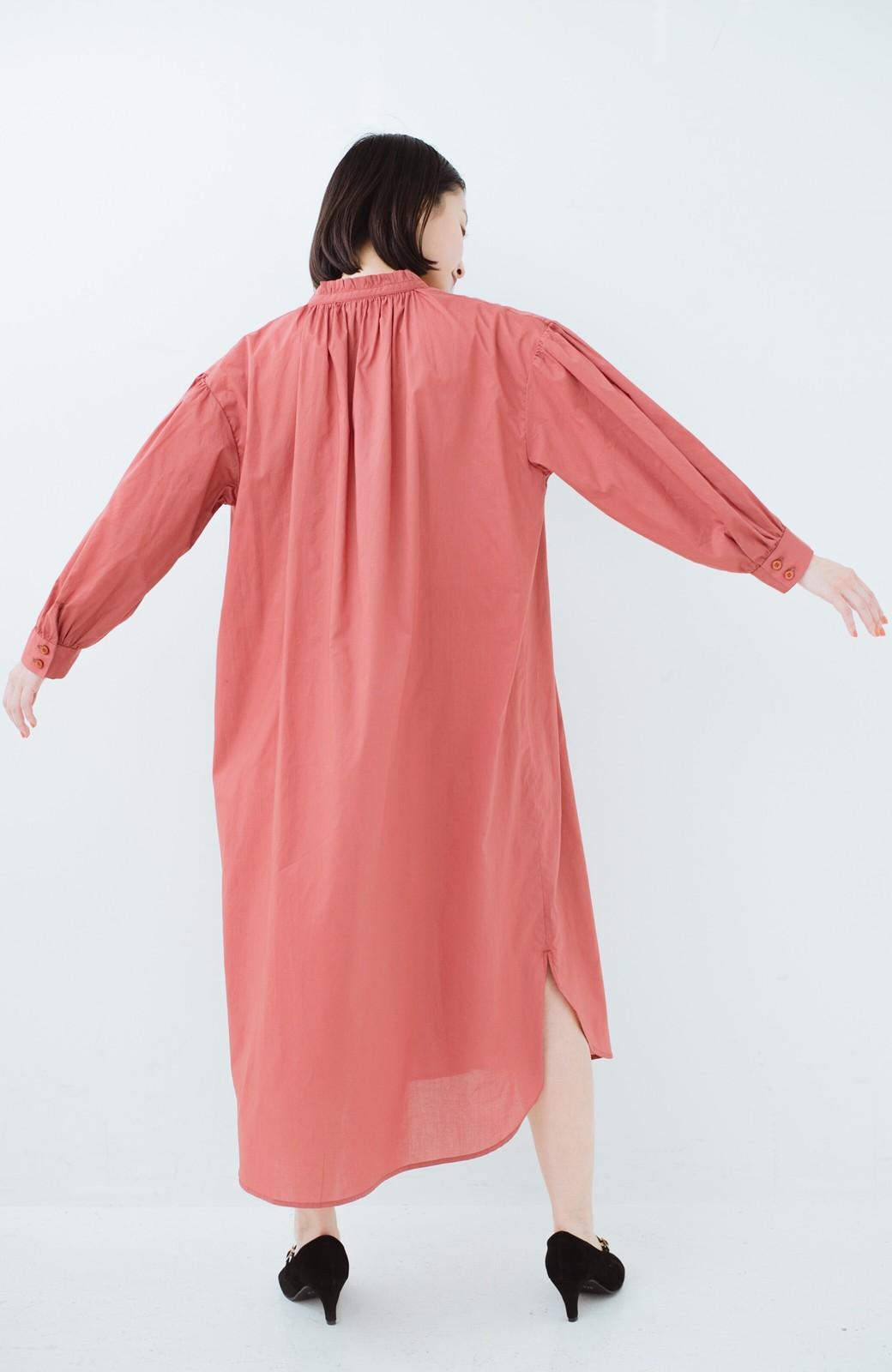 haco! 羽織りにもなって着回しのきくサッシュベルト付きシャツワンピース <ピンク>の商品写真18