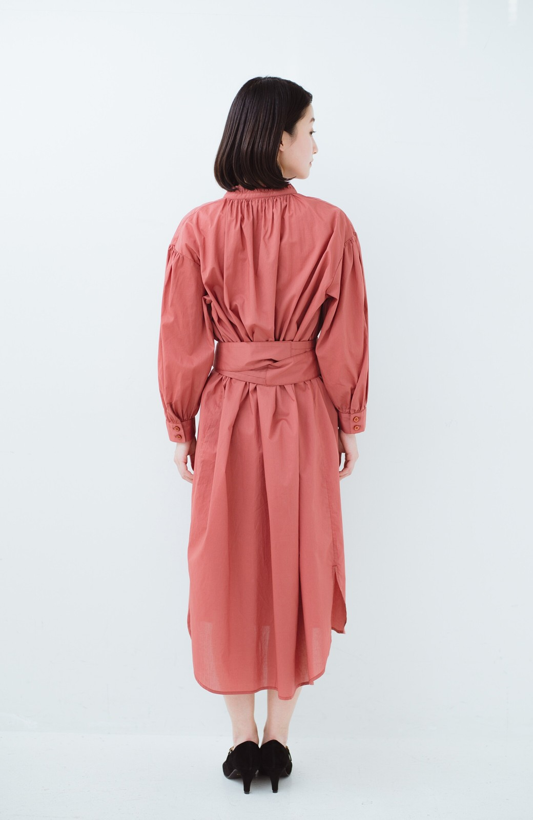 haco! 羽織りにもなって着回しのきくサッシュベルト付きシャツワンピース <ピンク>の商品写真19