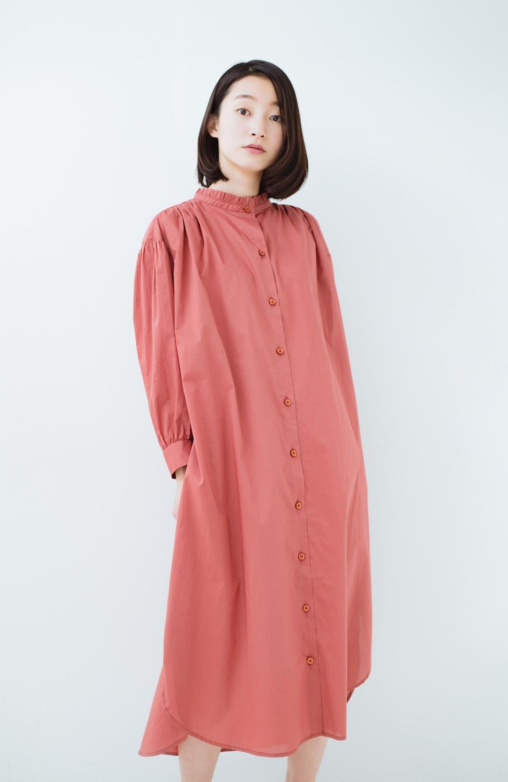 haco! 羽織りにもなって着回しのきくサッシュベルト付きシャツワンピース <ピンク>の商品写真20