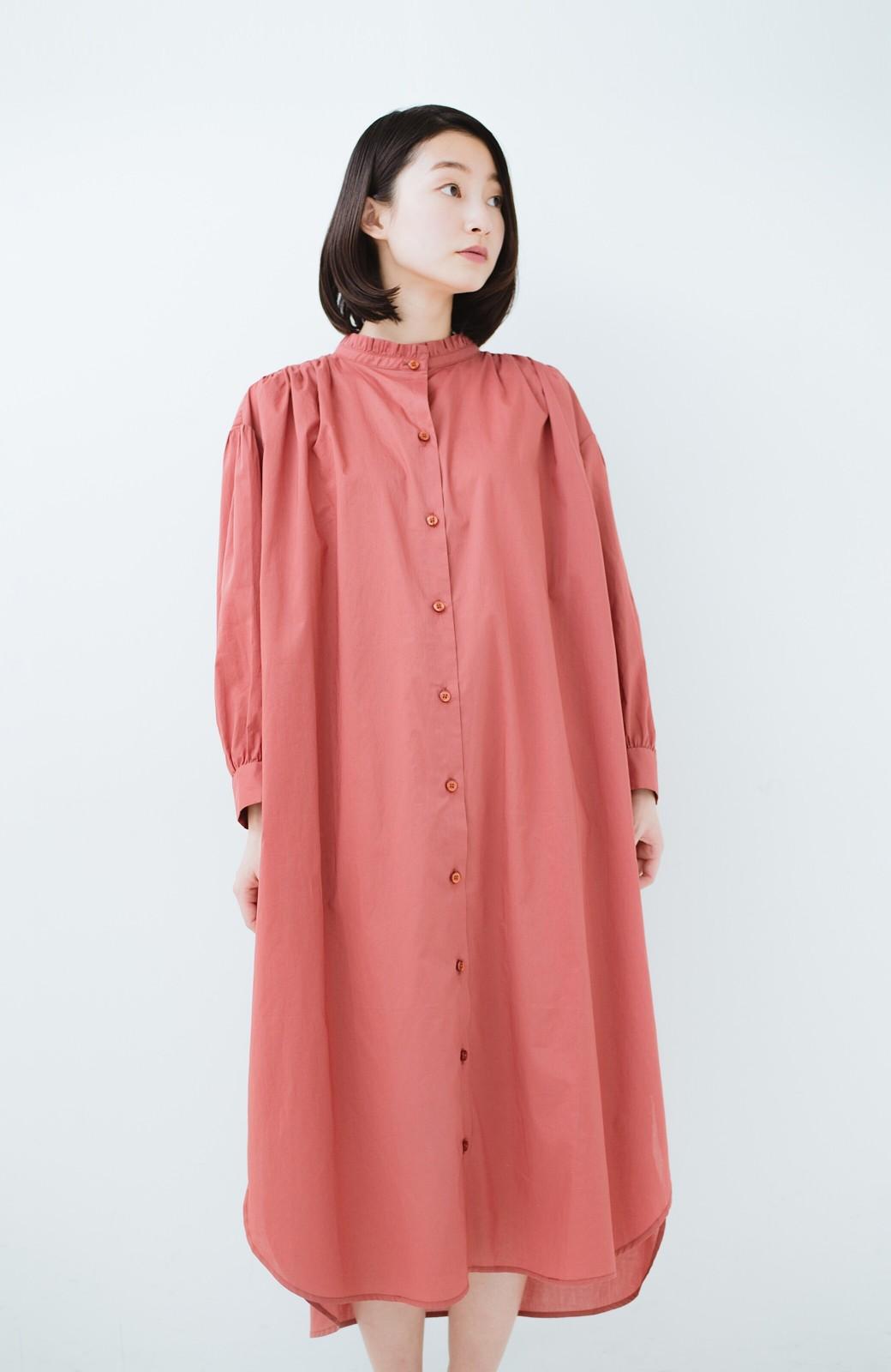 haco! 羽織りにもなって着回しのきくサッシュベルト付きシャツワンピース <ピンク>の商品写真21
