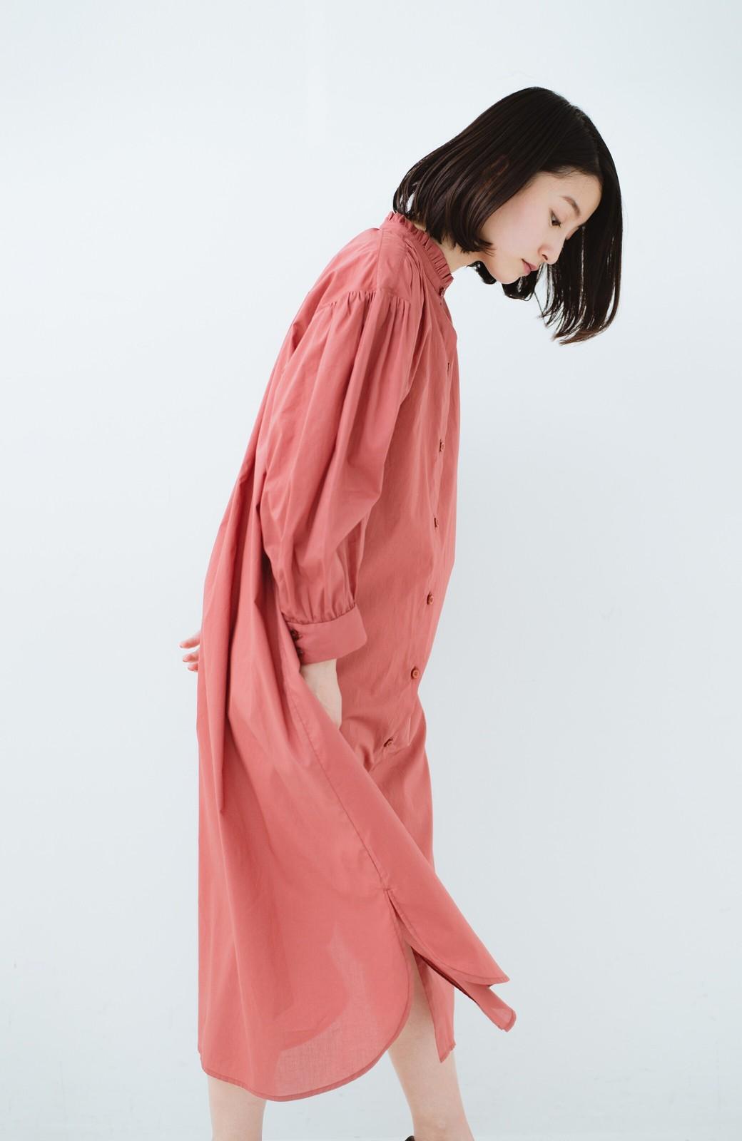 haco! 羽織りにもなって着回しのきくサッシュベルト付きシャツワンピース <ピンク>の商品写真22