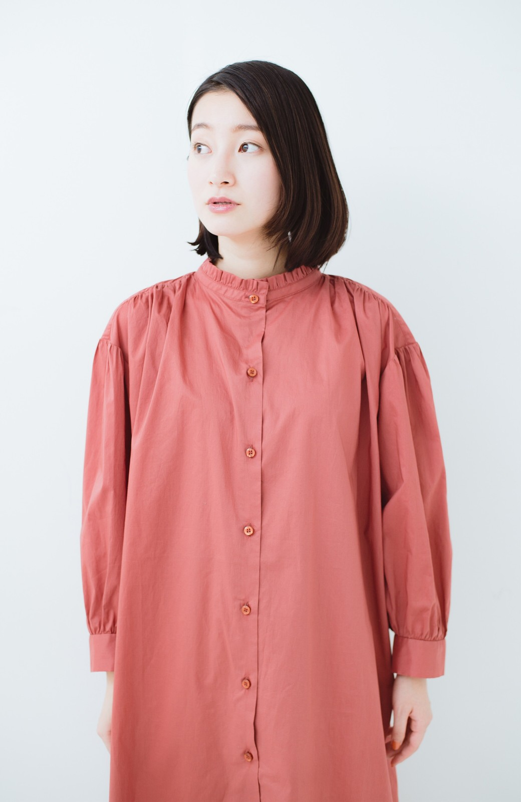 haco! 羽織りにもなって着回しのきくサッシュベルト付きシャツワンピース <ピンク>の商品写真23